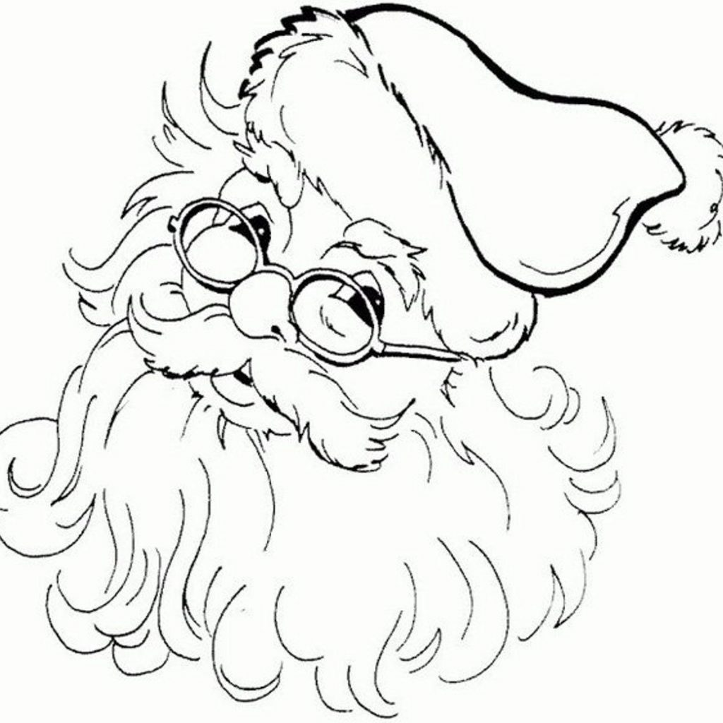 Santa Claus Coloring Face With Images For Black And White Shirleyguffey