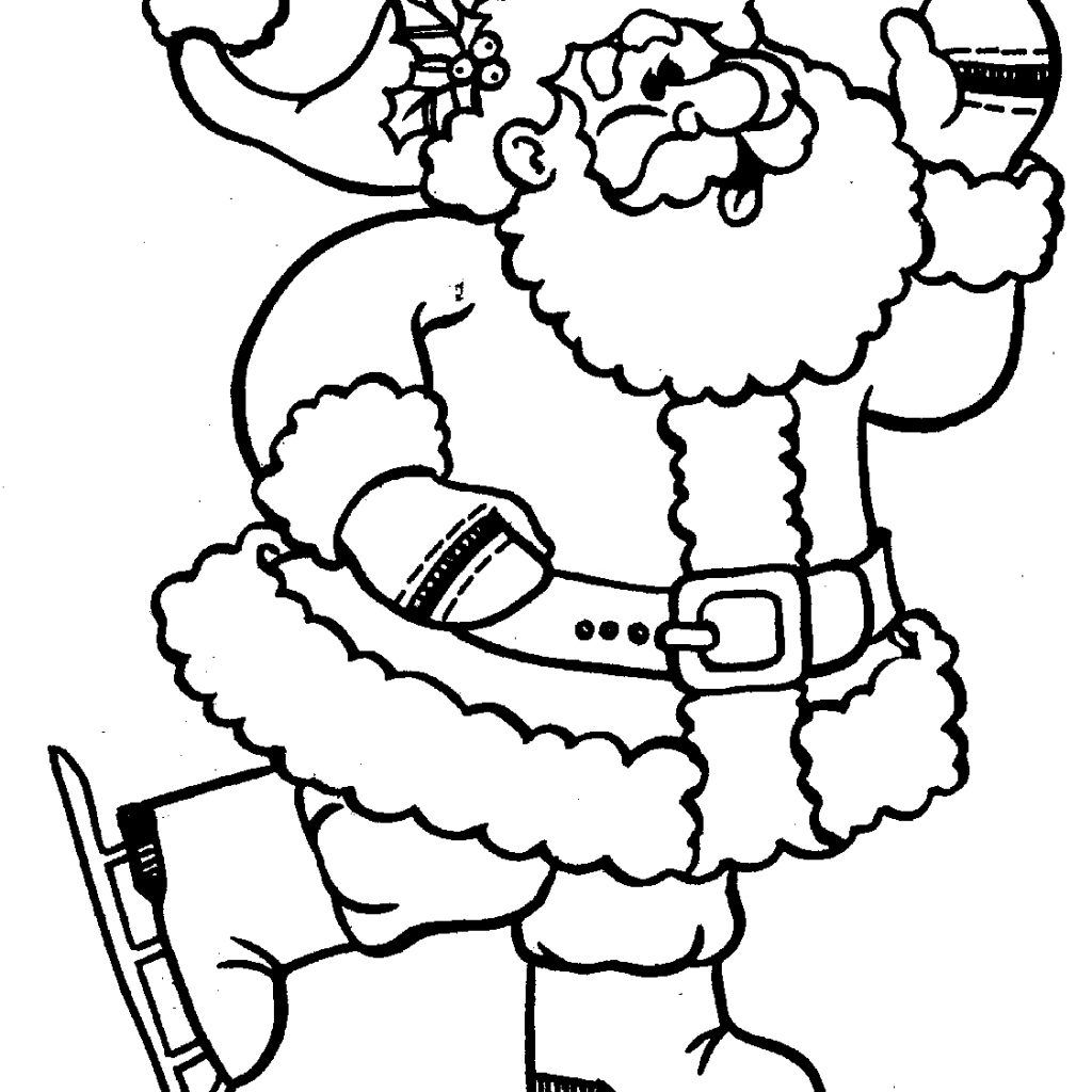 Santa Claus Coloring Face With Pages Of Beautiful