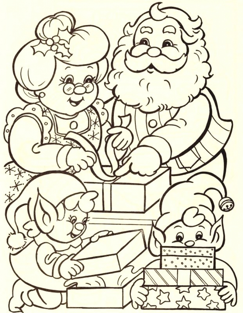 Santa Claus Coloring Games Free Online With Awesome Cartoon Pages Design Printable