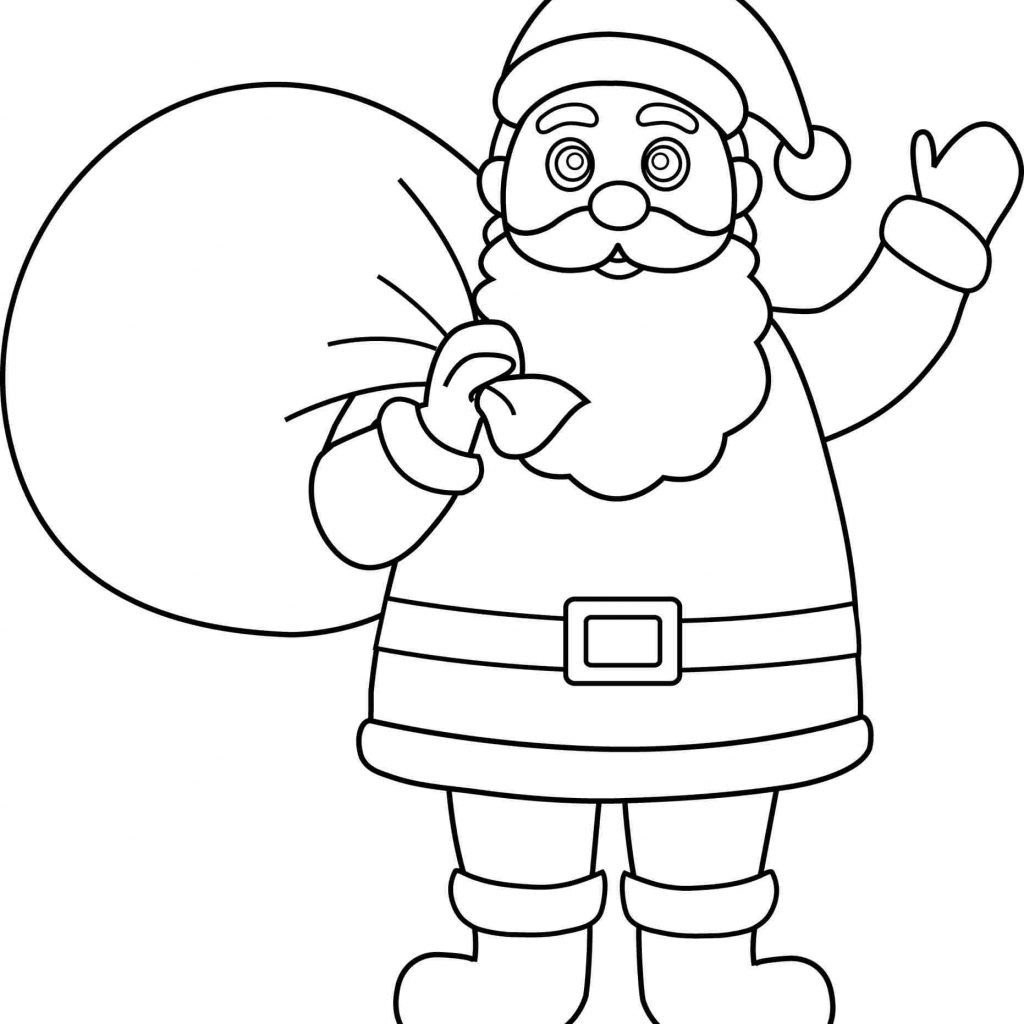 Santa Claus Coloring In With Pages For Kids