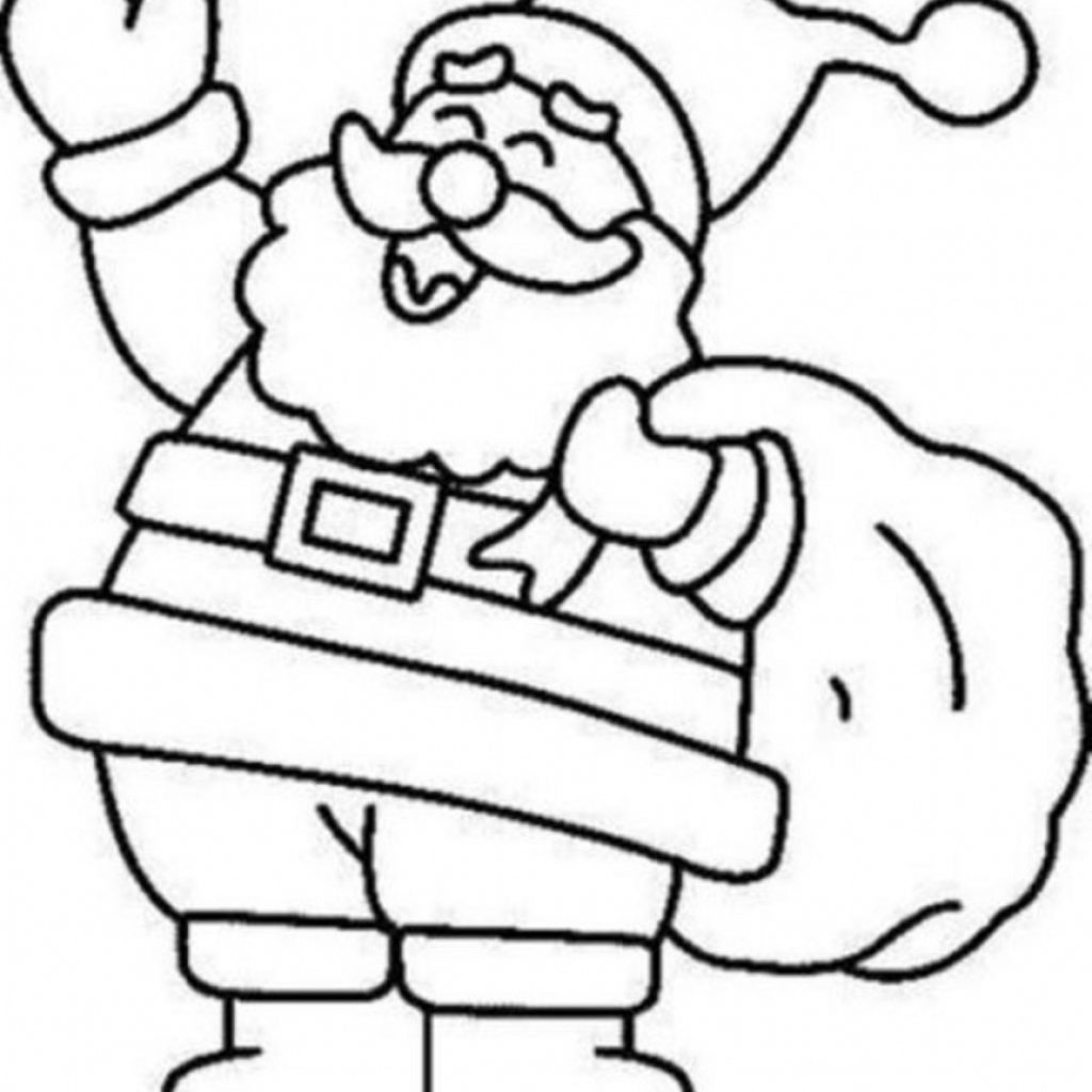Santa Claus Coloring Page Free With Color Printable To Print Home Within