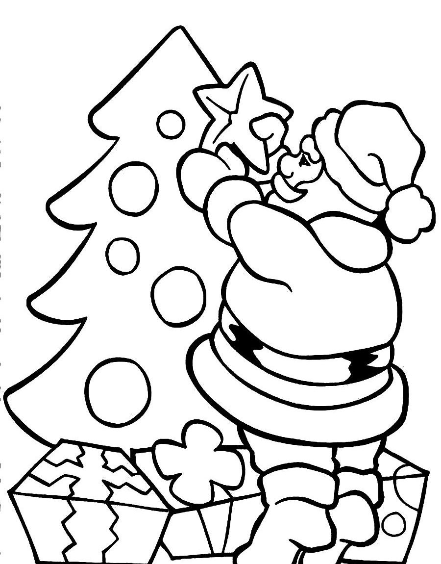 Santa Claus Coloring Page Free With Printable Pages