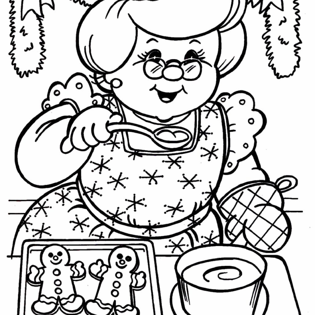 Santa Claus Coloring Pages For Adults With And Mrs