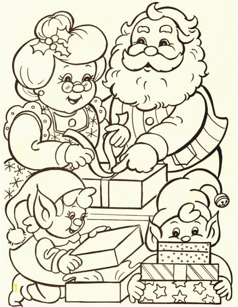 Santa Claus Coloring Pages For Adults With And Mrs Inspirational