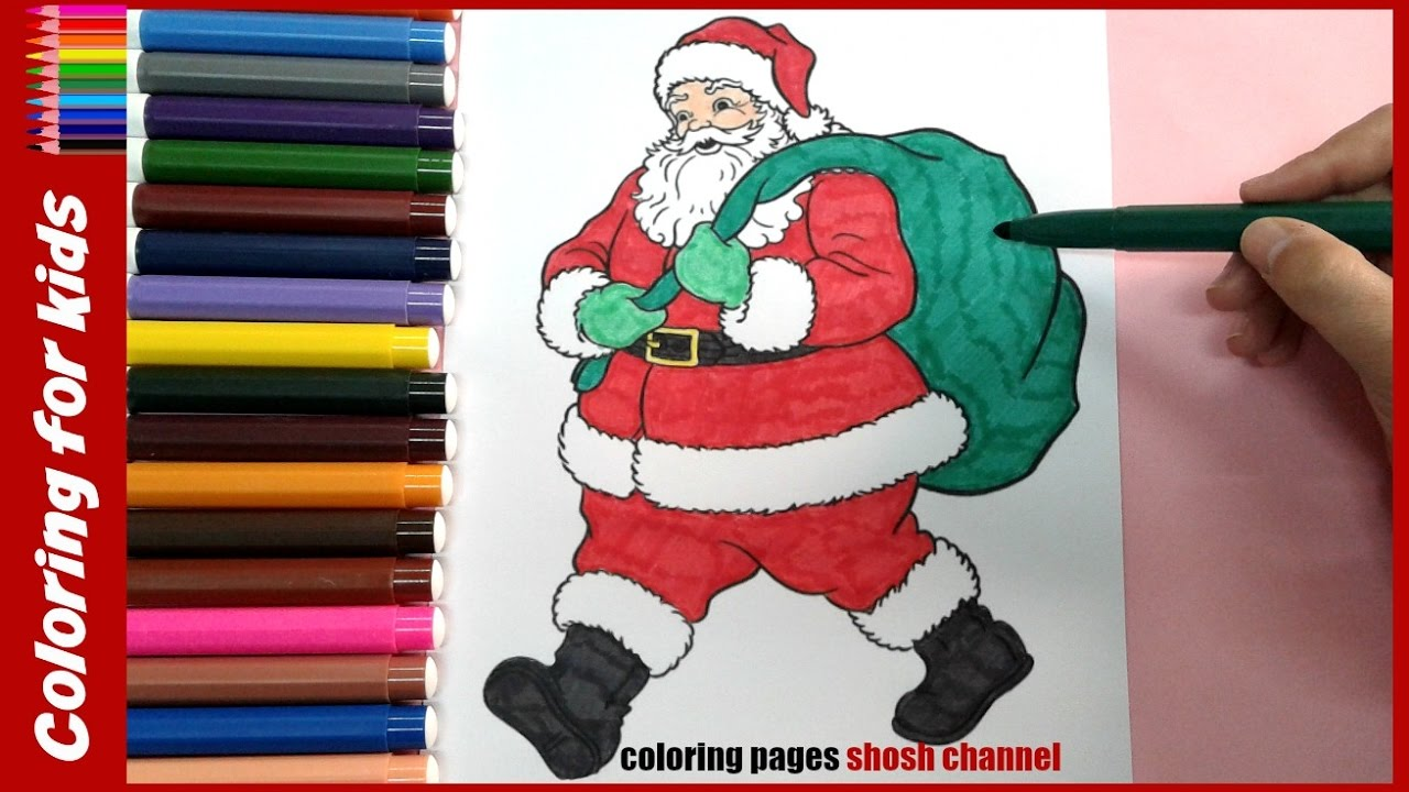 Santa Claus Coloring Pages For Preschoolers With Christmas From