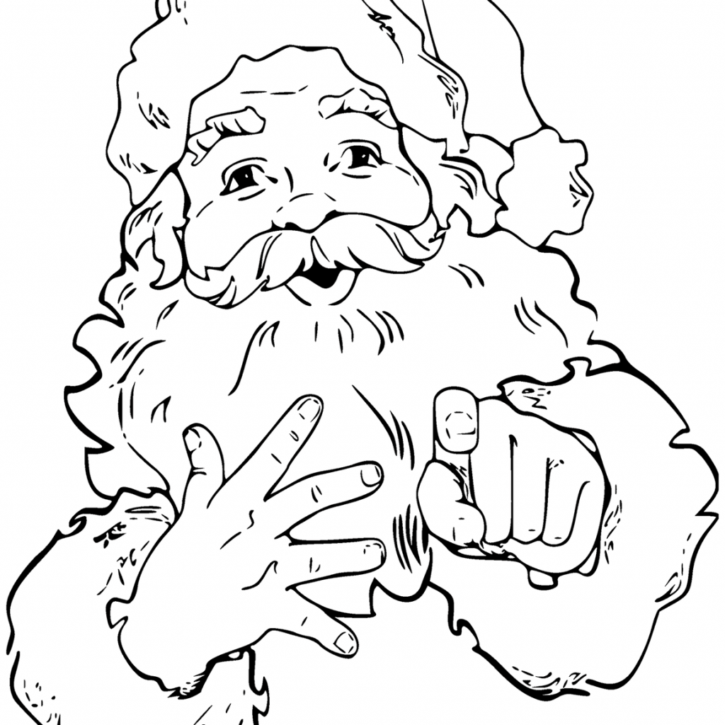 Santa Claus Coloring Pages For Preschoolers With Free
