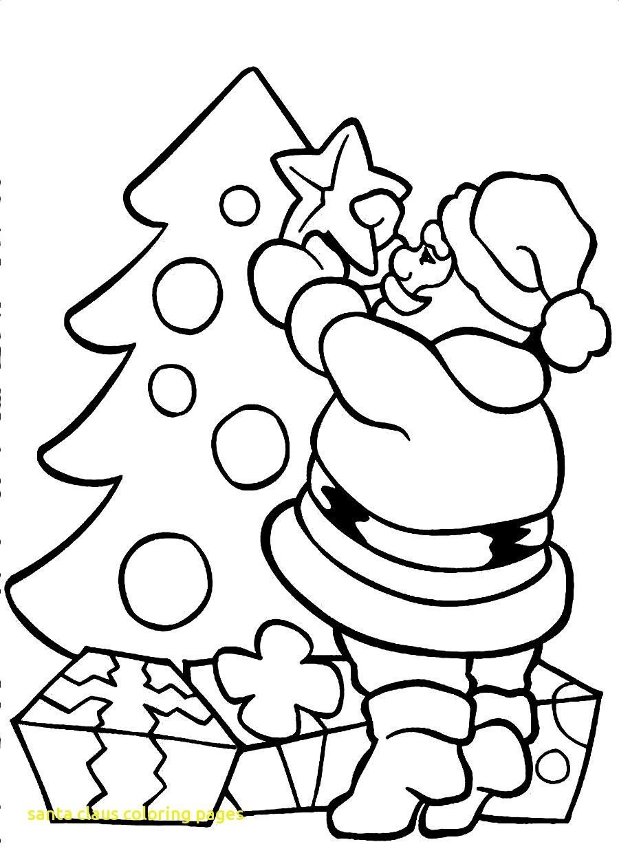 Santa Claus Coloring Pages For Preschoolers With Wonderful 11 Printable Page Christmas