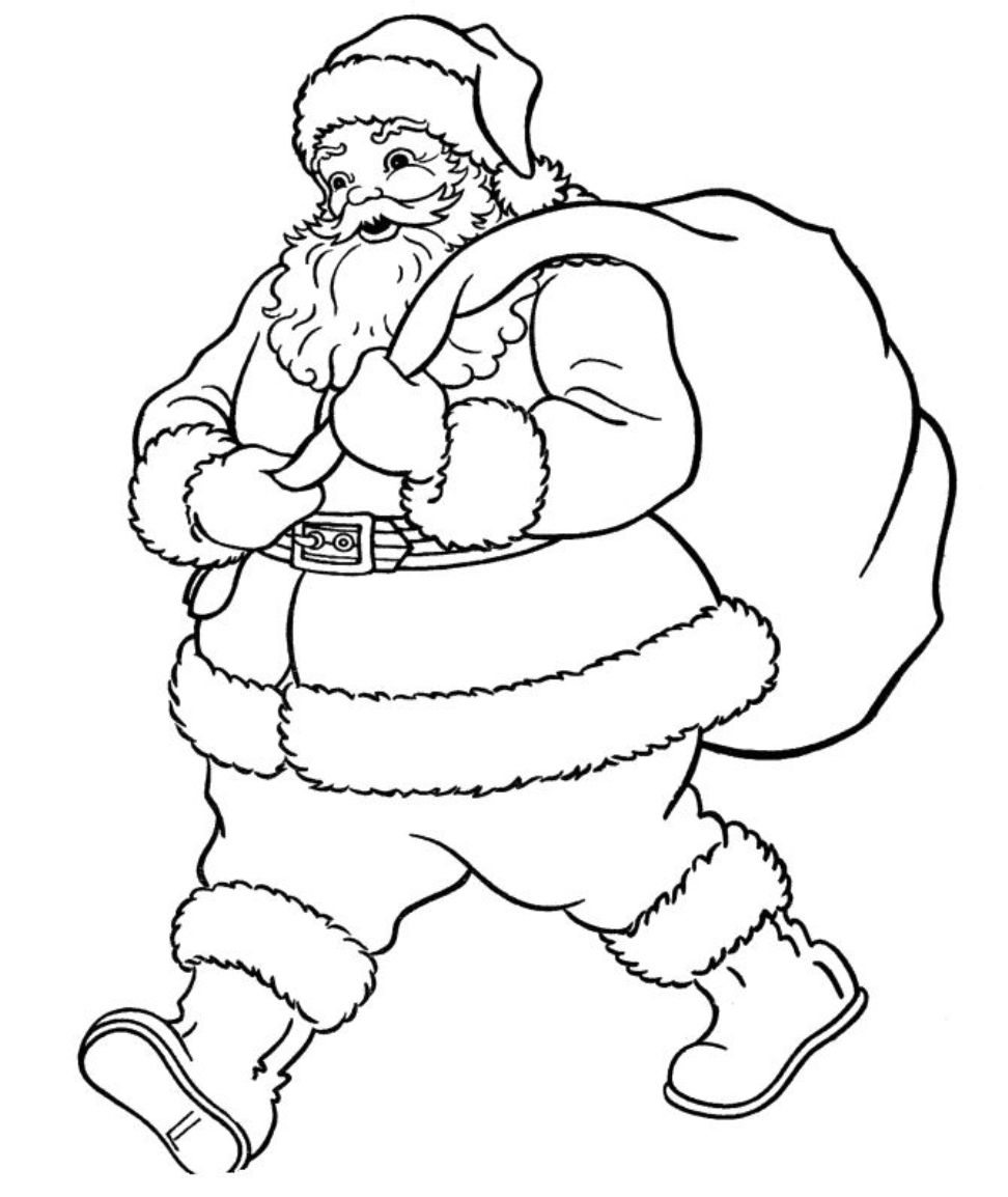 Santa Claus Coloring Pages Free Printables With Printable Picture Of Library