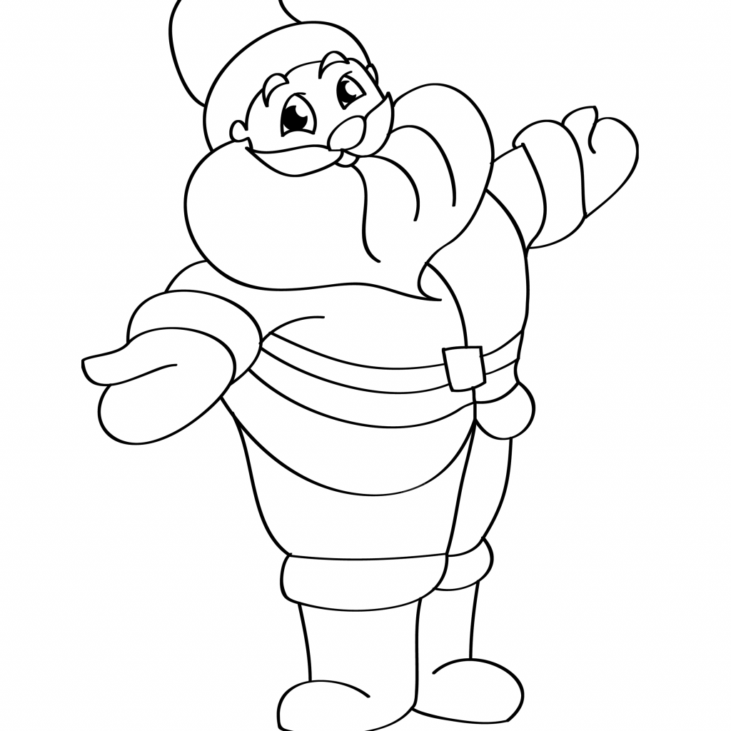 Santa Claus Coloring Pages Online With 42 Inspiring Photo Of Page