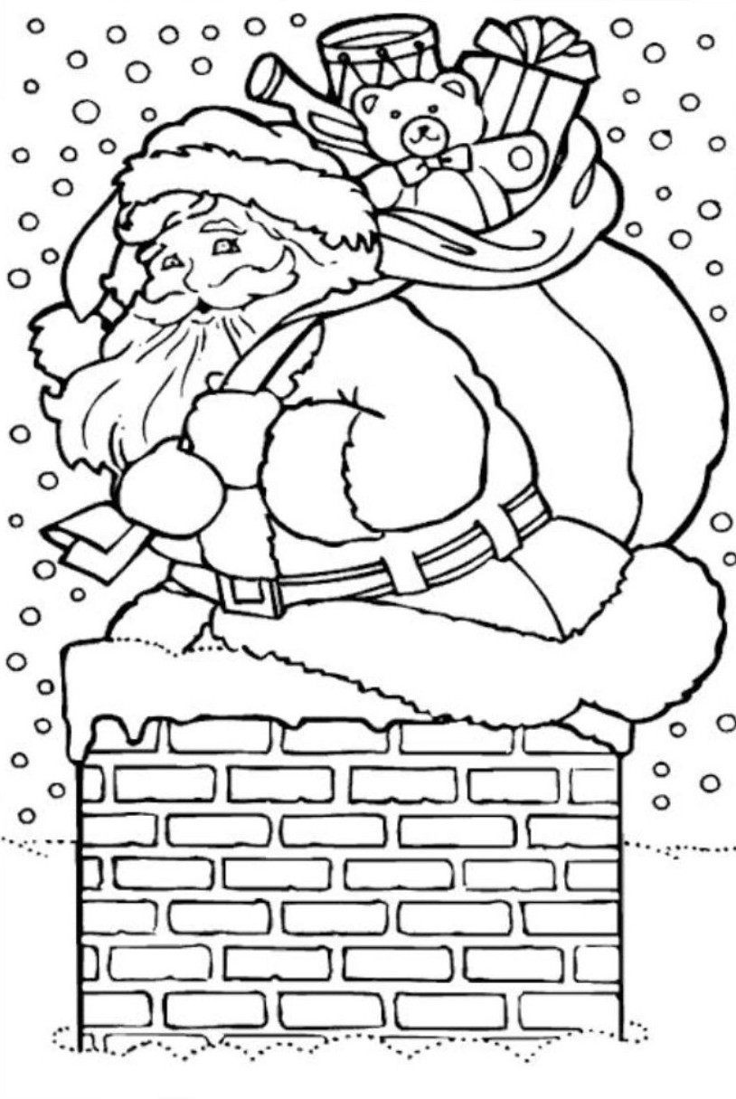 Santa Claus Coloring Pages To Print With Free ColoringStar