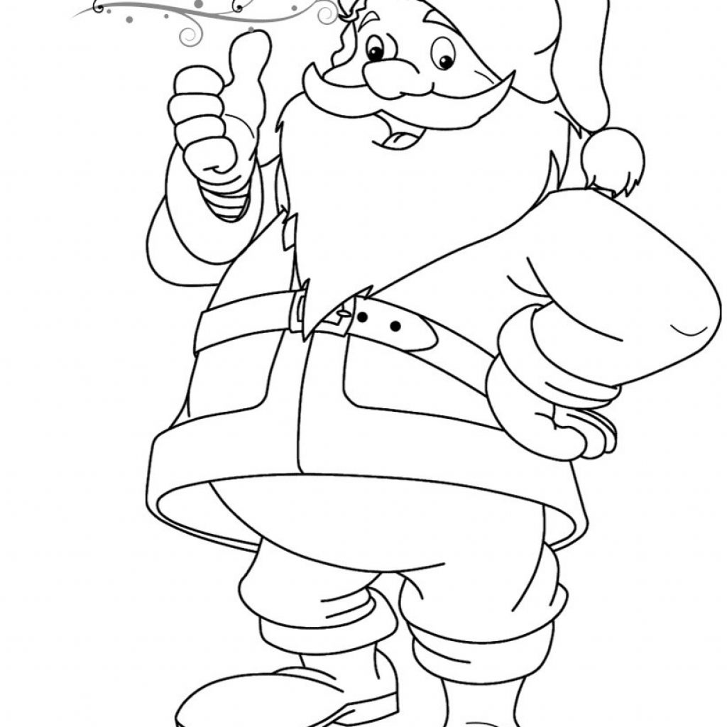 Santa Claus Coloring Pages To Print With Funny Page Free Printable