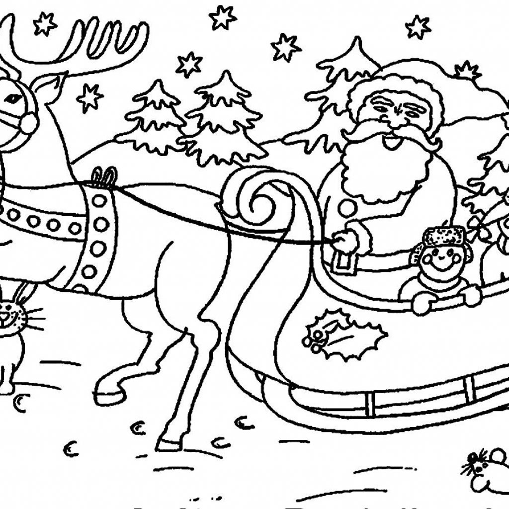 Santa Claus Coloring Pages With 5F9R Mrs Crafted Here