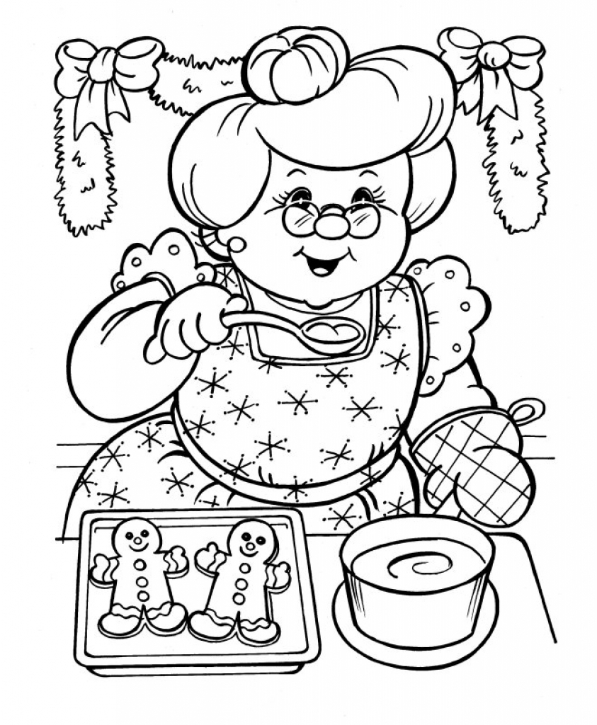 Santa Claus Coloring Pics With And Mrs Pages Archives My Localdea