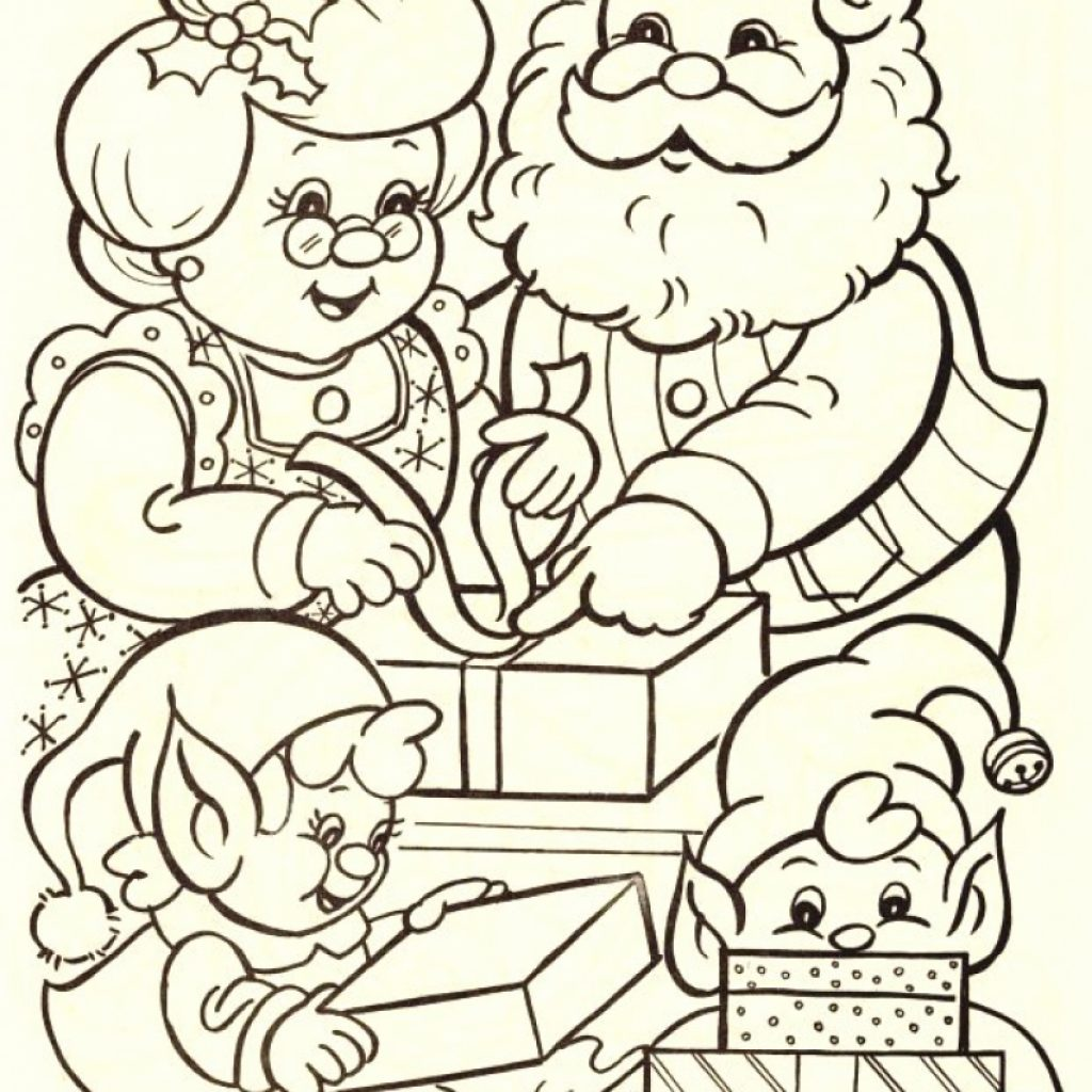 Santa Claus Coloring With And Mrs Pages 2665760