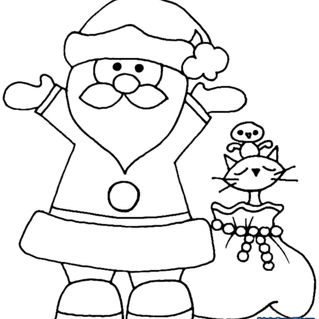 Santa Claus Coloring With Christmas Pages For Kids