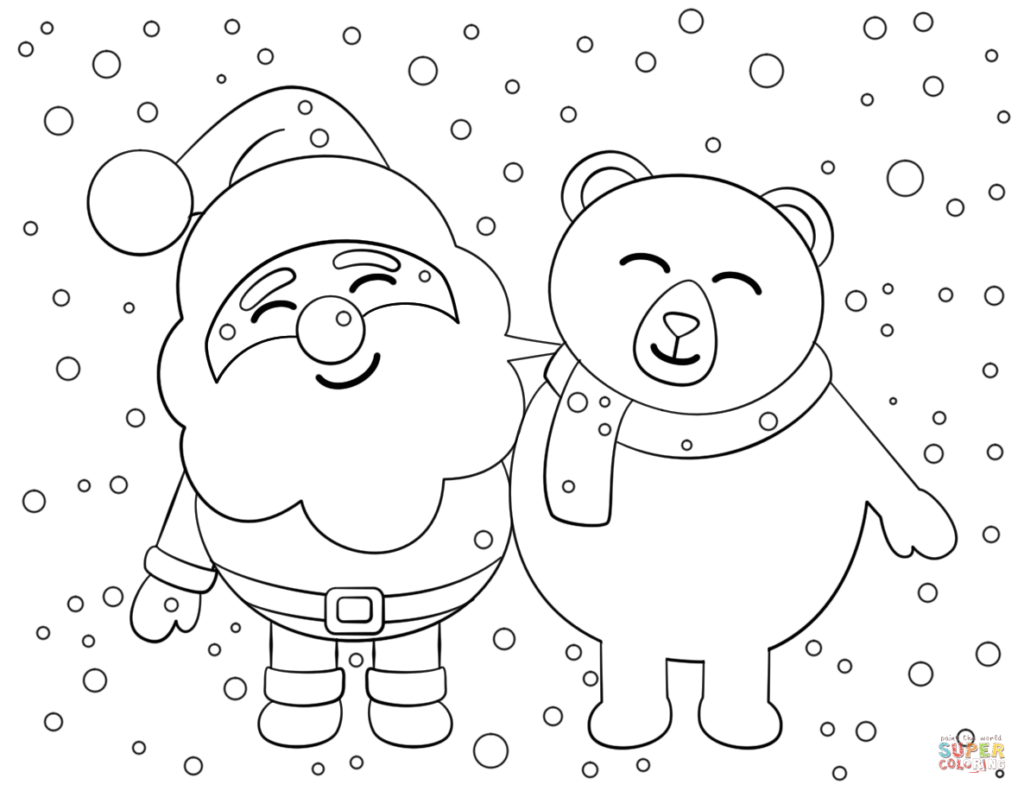 Santa Claus Coloring With Pages Free