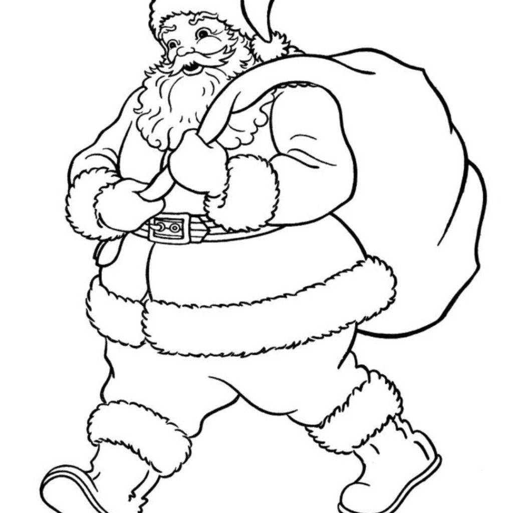 Santa Claus Coloring With Pages Of Wants To Go Christmas