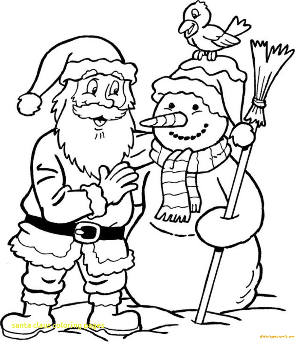 Santa Claus Coloring Worksheets With Line Drawing At GetDrawings Com Free For Personal Use