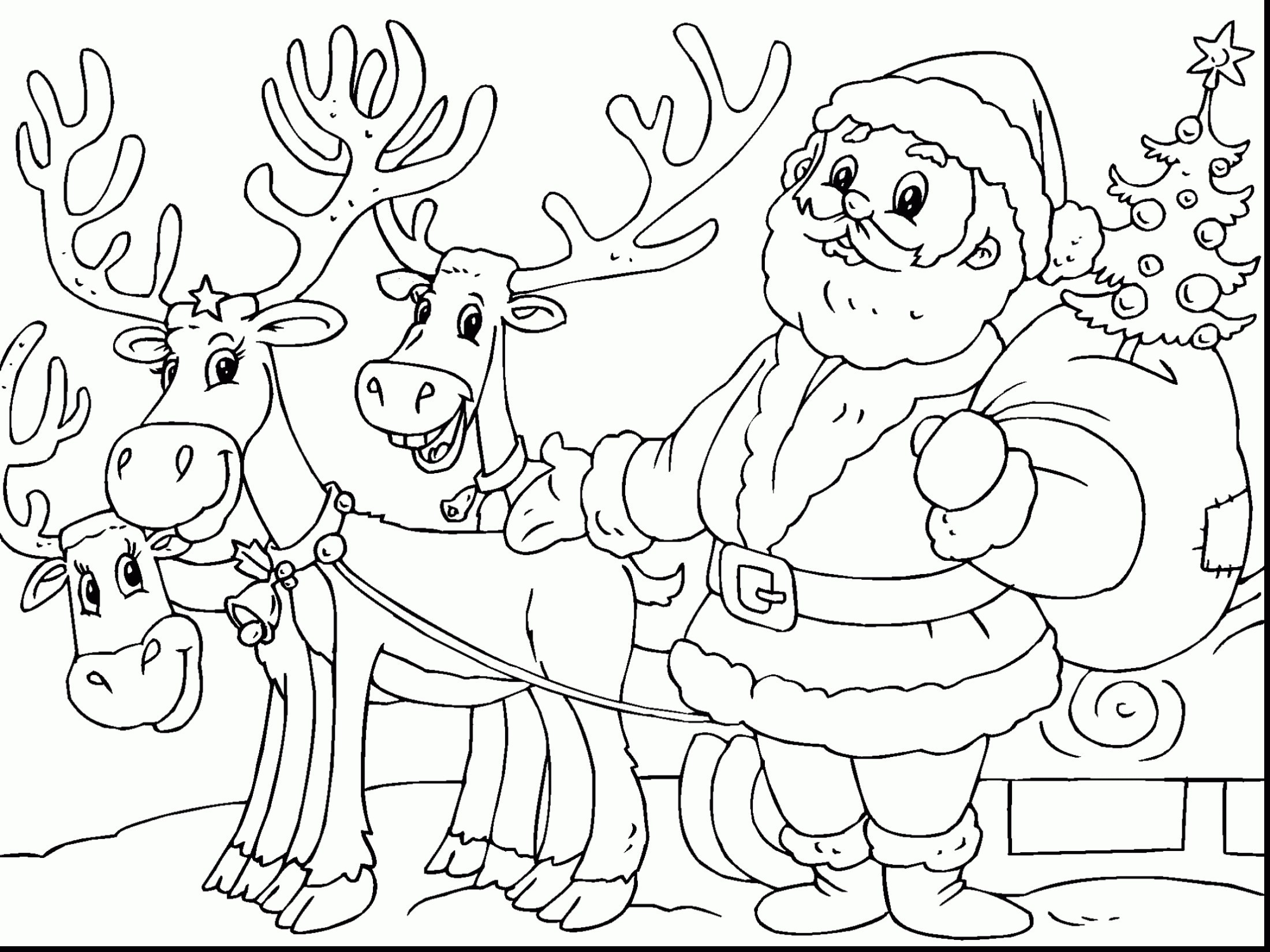 Santa Claus Coloring Worksheets With Pages Best
