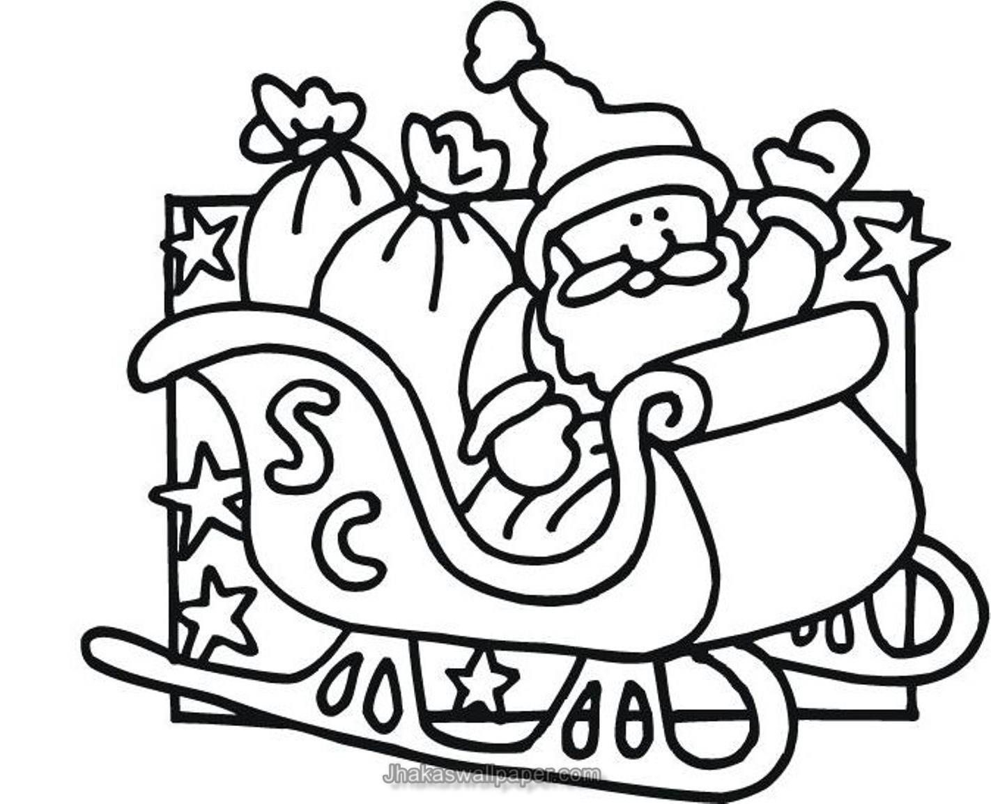 Santa Claus Coloring Worksheets With Pages To