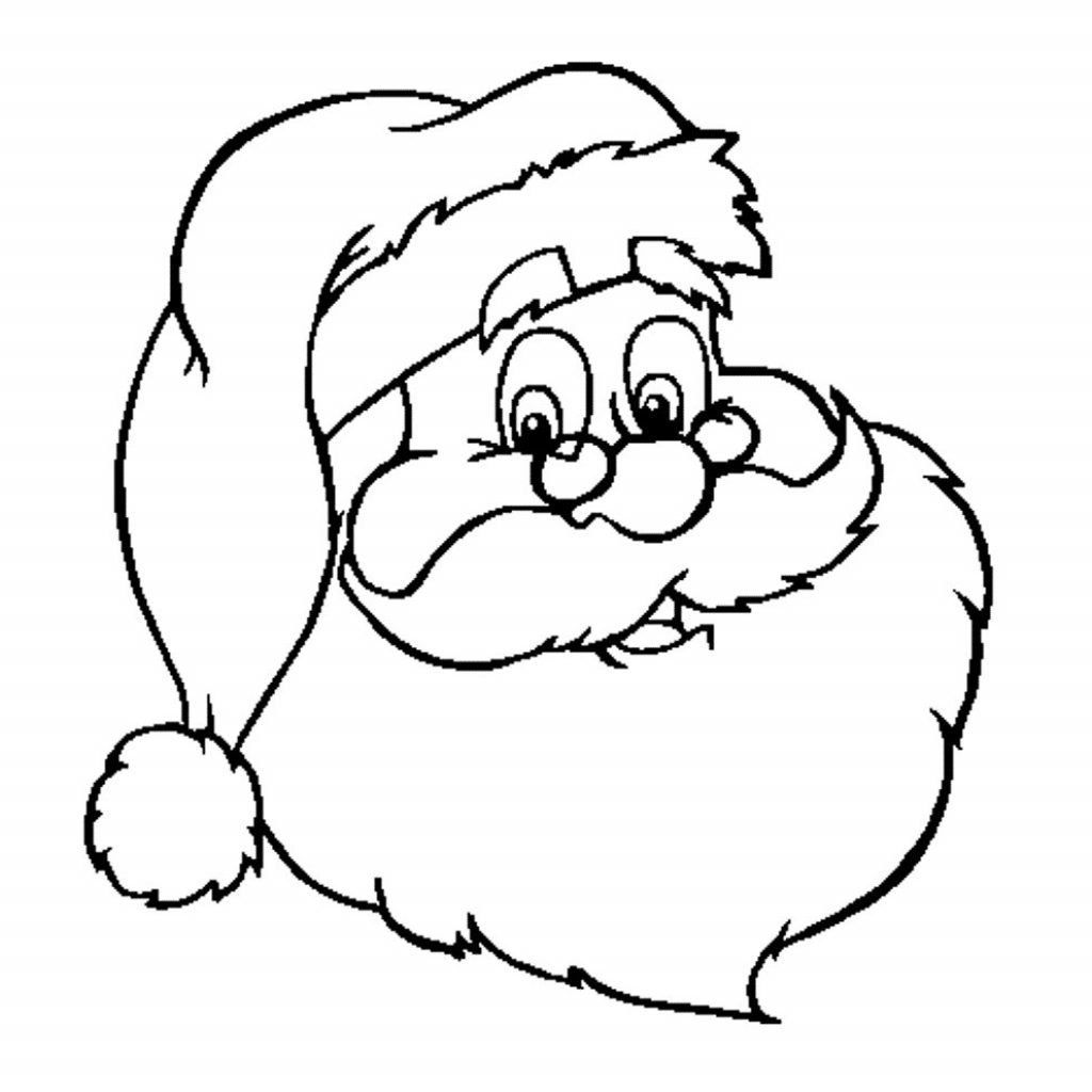 Santa Claus Face Coloring Pages With And Snowman Elegant Page