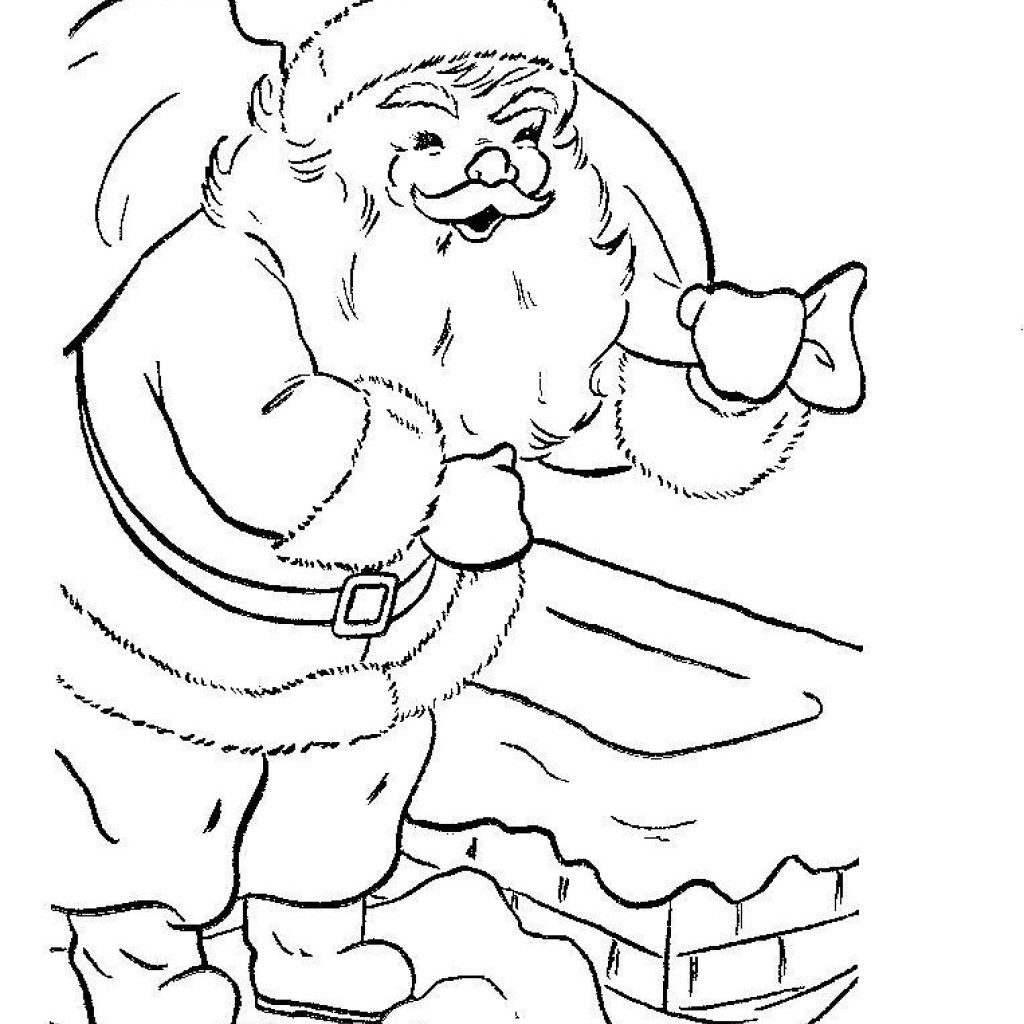 Santa Claus Face Coloring Pages With For Kids Crazywidow Info