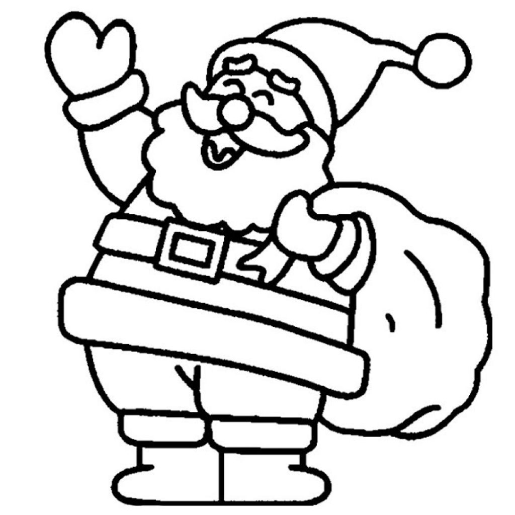 Santa Claus For Coloring Pages With How To Draw Merry Christmas