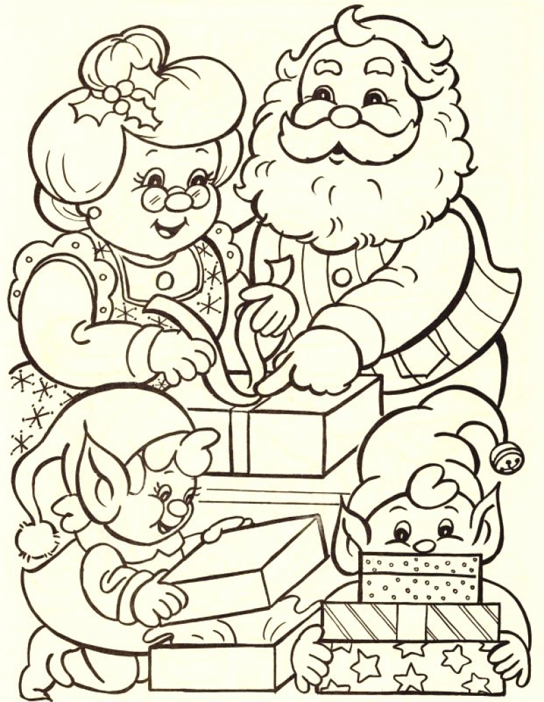 Santa Claus For Coloring Pages With Mrs Shrewd Top 10 And Printable
