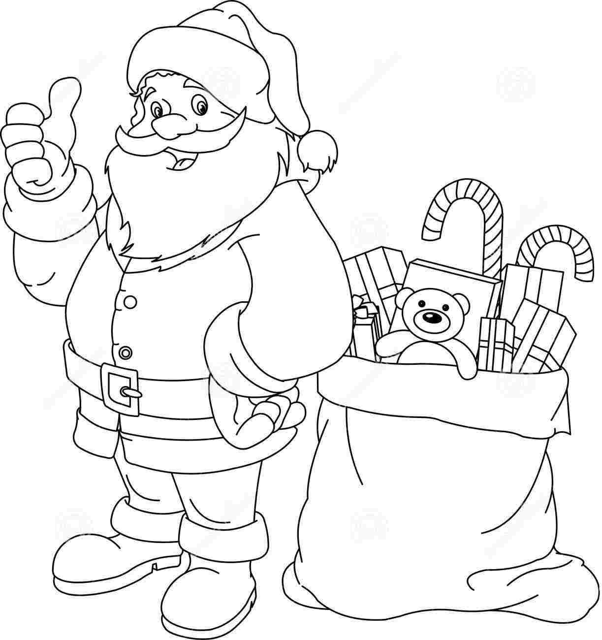 Santa Claus For Coloring Pages With Only Home