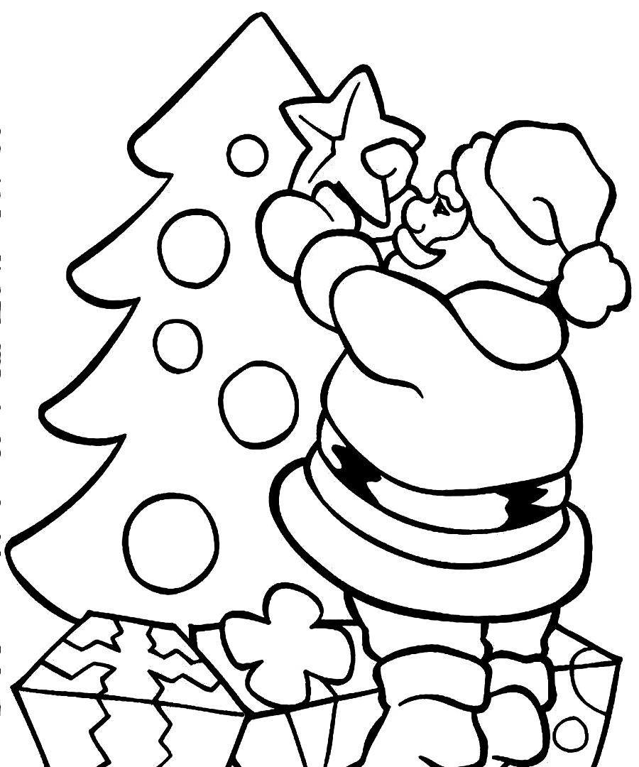 Santa Claus For Coloring Pages With Page Runninggames Me