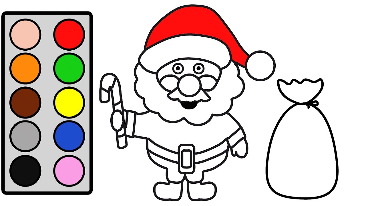 Santa Claus For Coloring With Kids Christmas Page