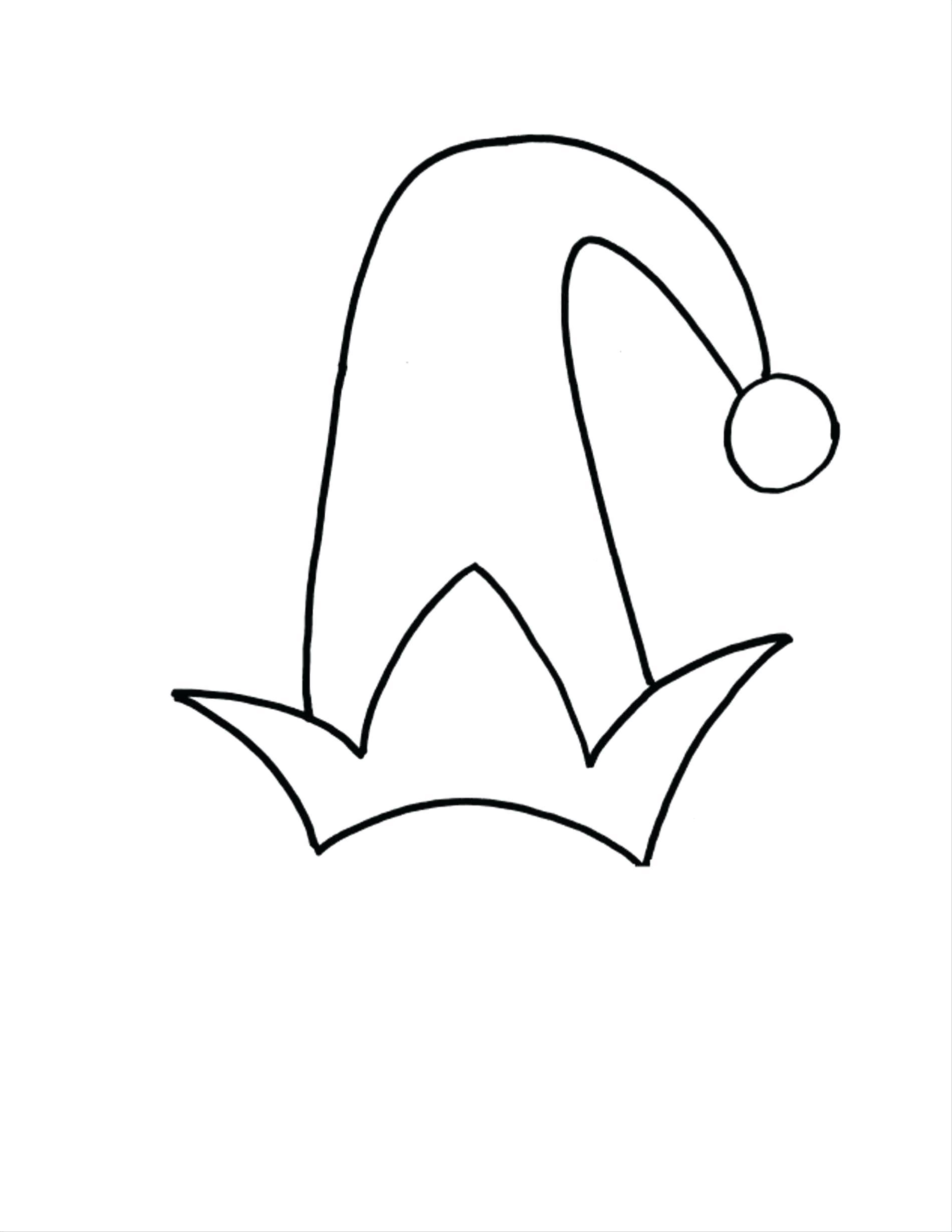 Santa Claus Hat Coloring Page With Hats Pages Gallery For Kids
