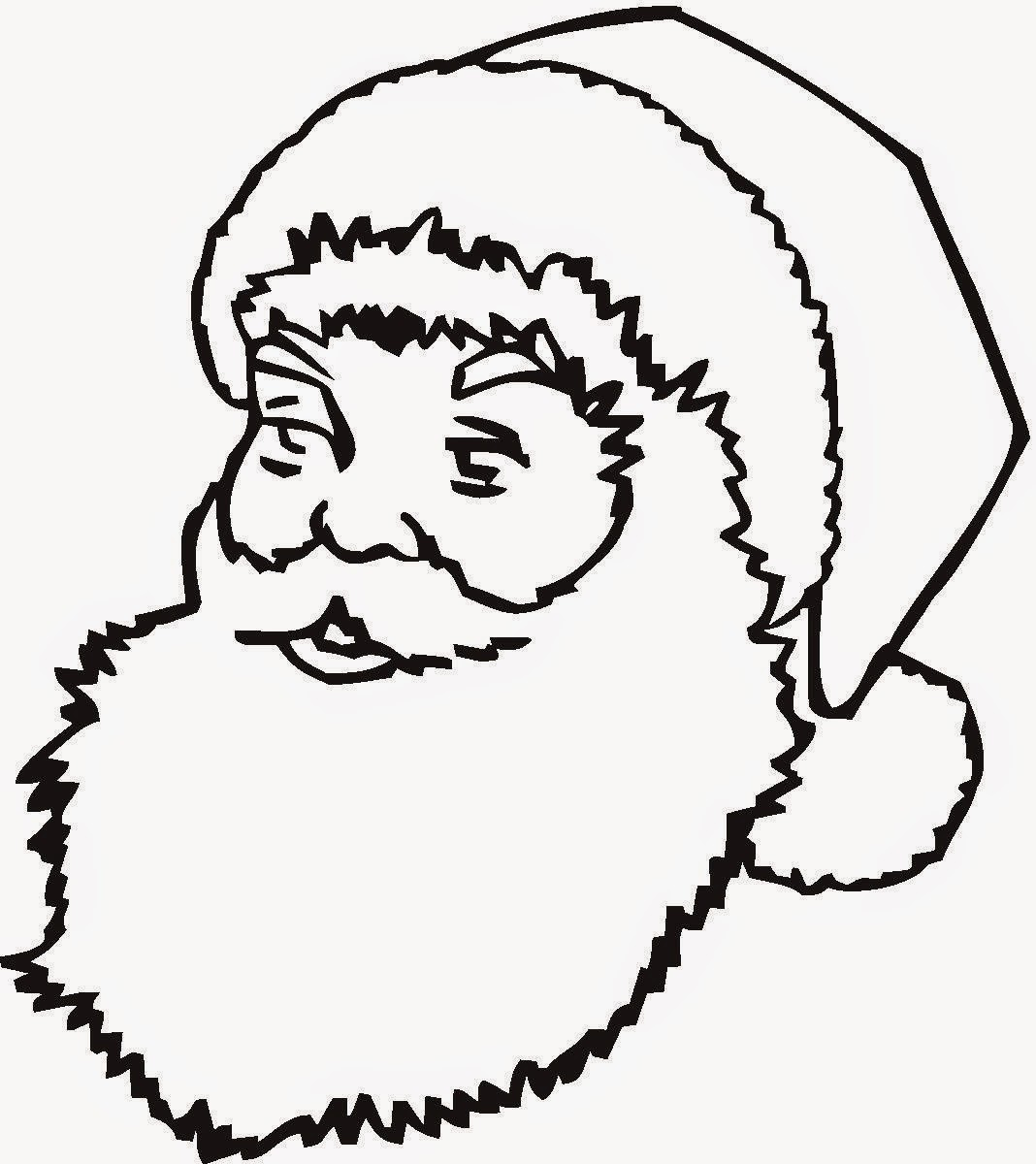 Santa Claus Head Coloring Pages With Free And Printable