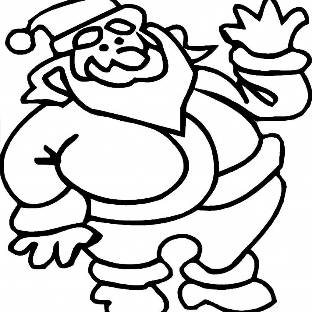 Santa Claus Outfit Coloring Pages With Free Fat Pictures Download Clip Art On