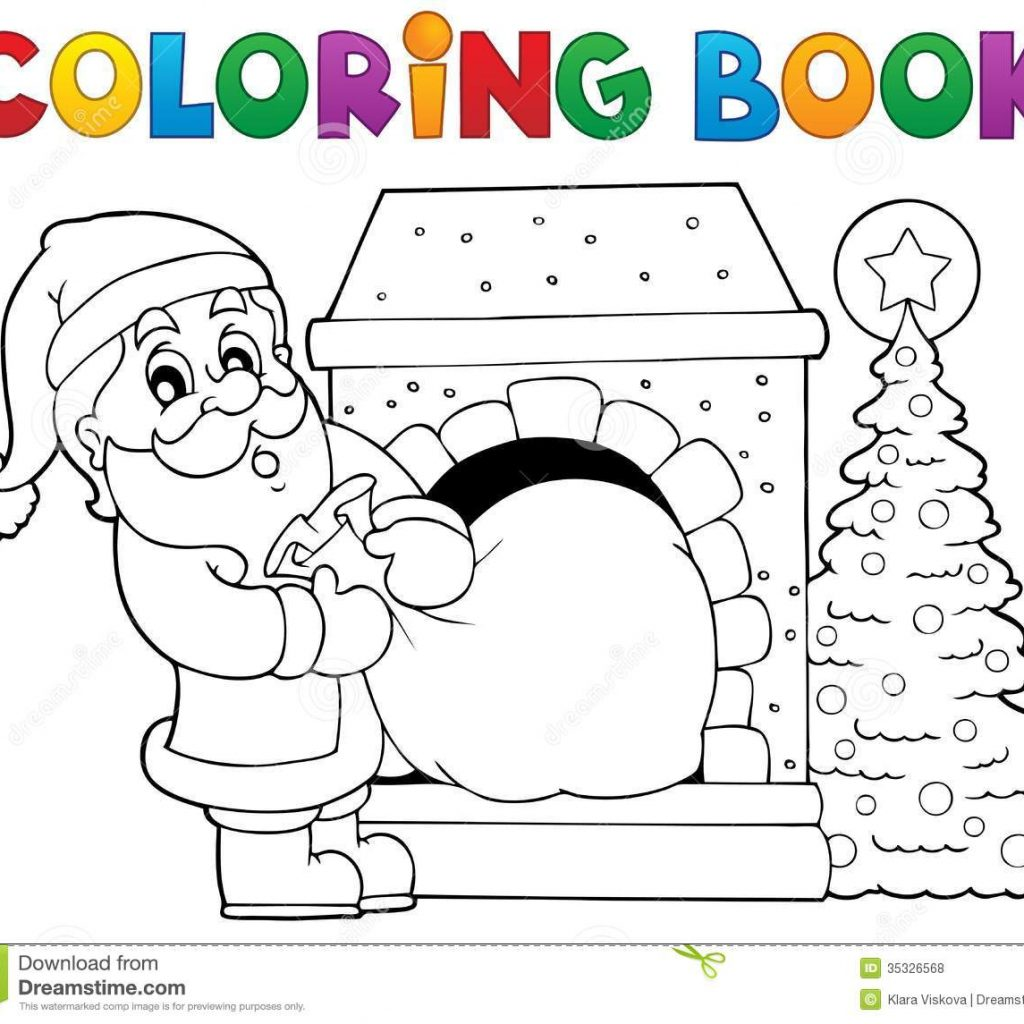 Santa Claus To Coloring With Book Theme 9 Stock Vector Illustration Of