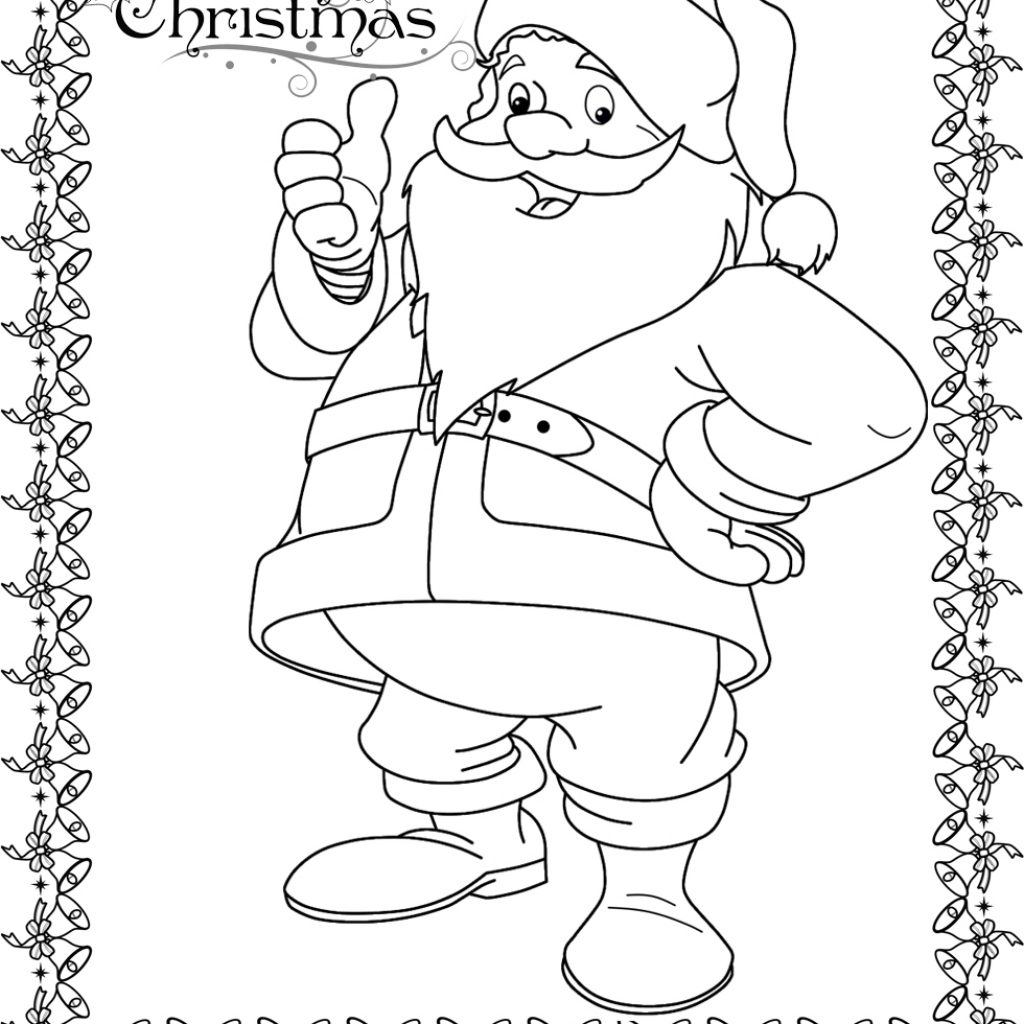 Santa Claus To Coloring With Face Pages Sheets