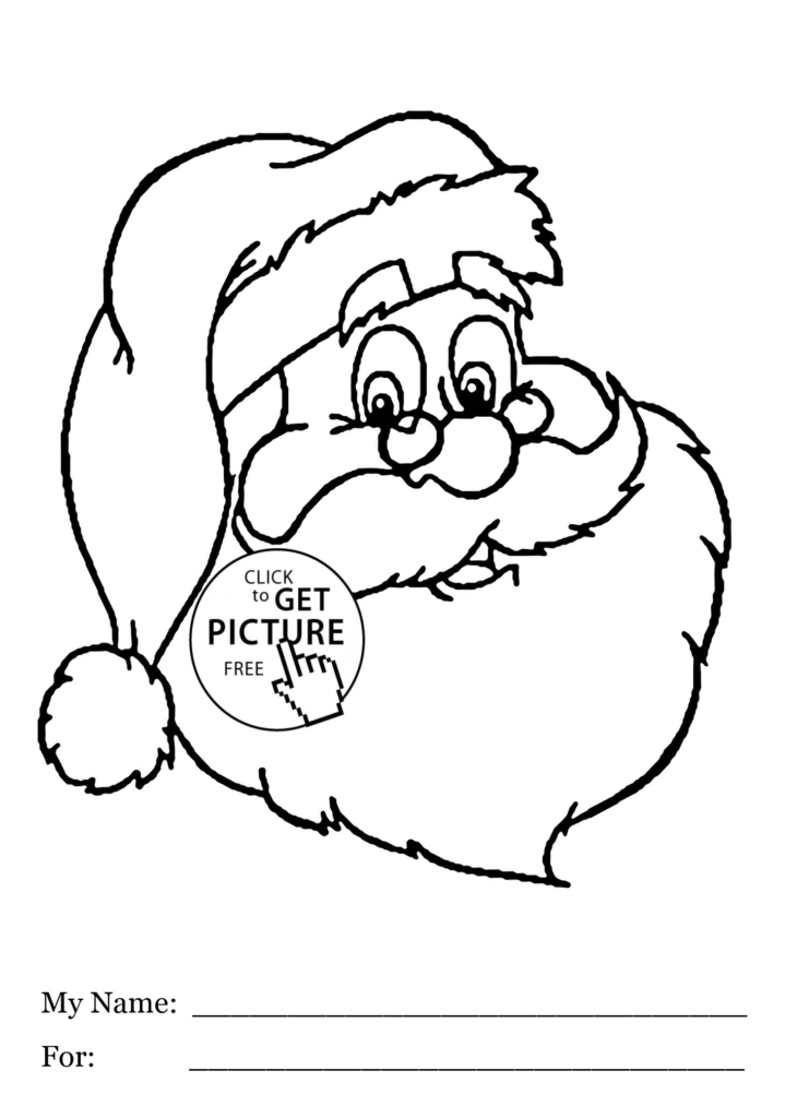 Santa Colored In With Claus Printable Coloring Pages My Localdea
