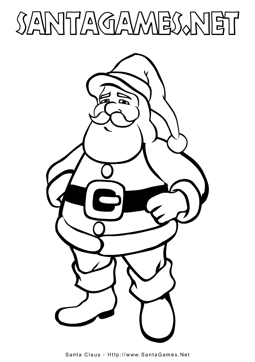 Santa Coloring Book Games With Christmas Pages Claus