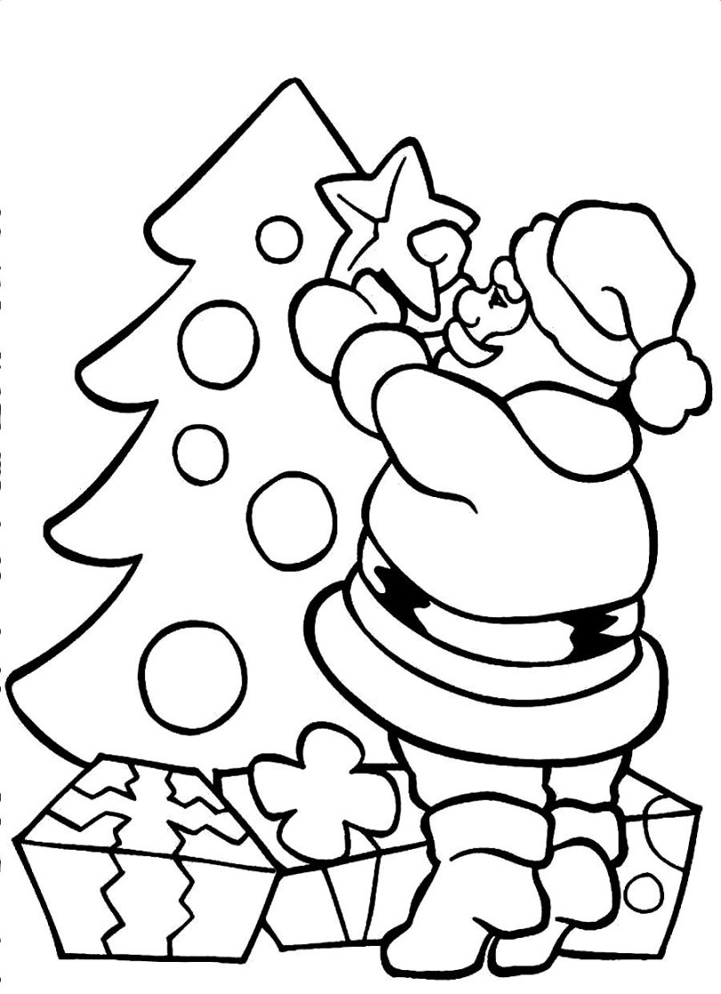 Santa Coloring Book Pages With Awesome Cartoon Claus Design Printable