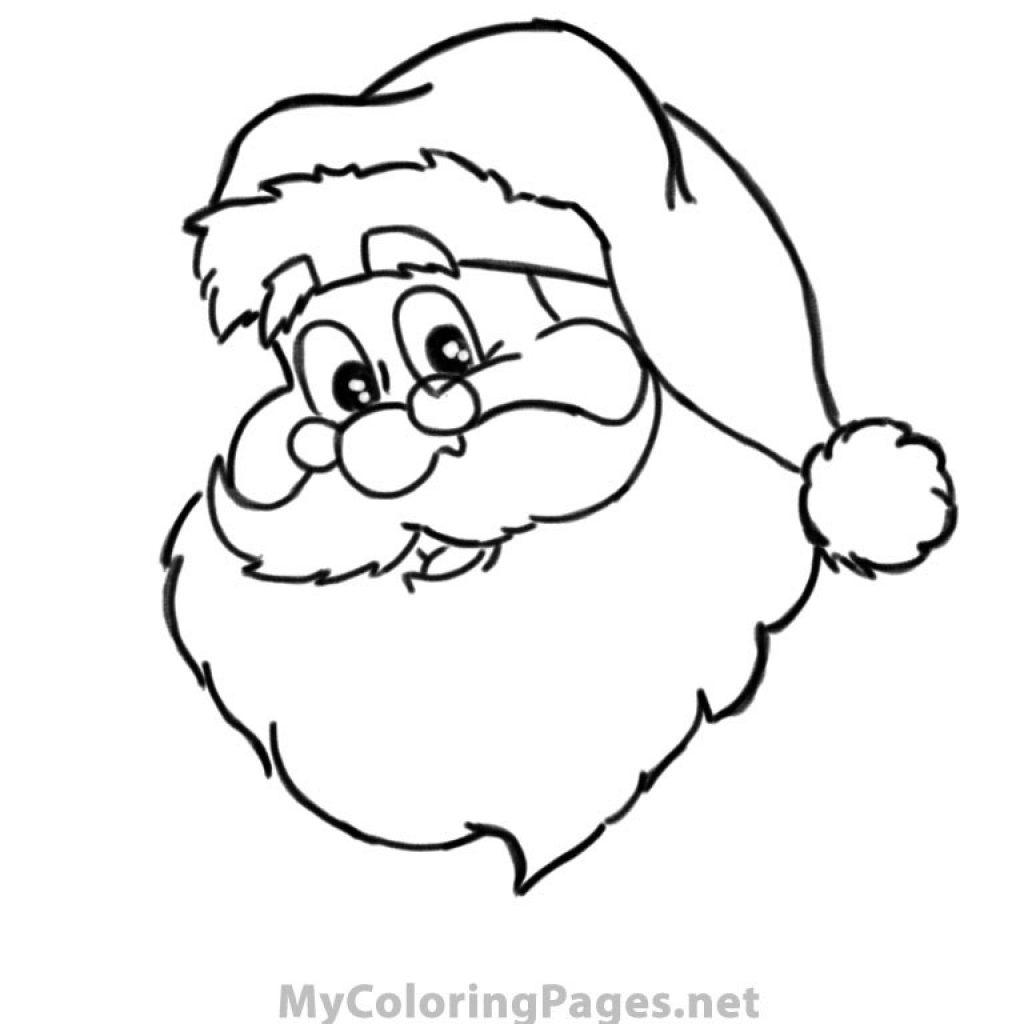 Santa Coloring Book Pictures With Color Firmakaydet Org