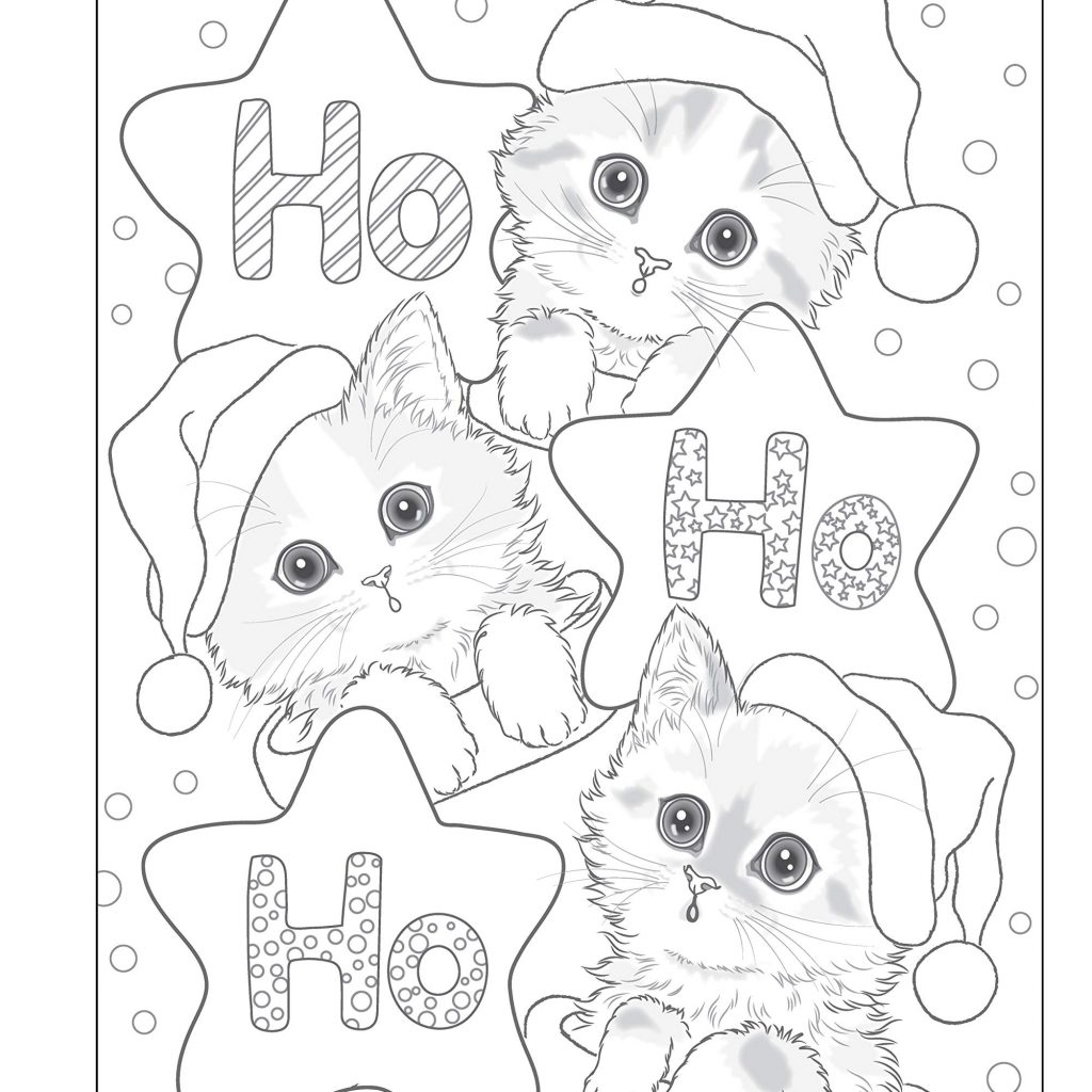 Santa Coloring Book With Amazon Com S Kitty Helpers Holiday Design