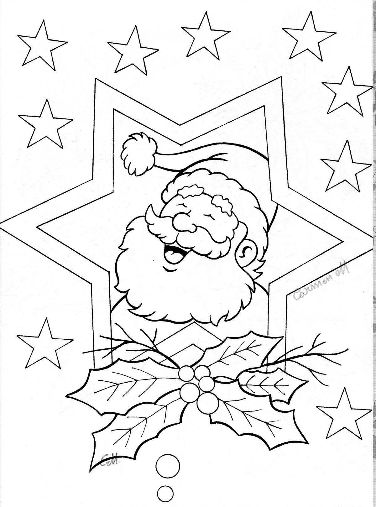 Santa Coloring Books With By Suzanne Pages For Kids Pinterest