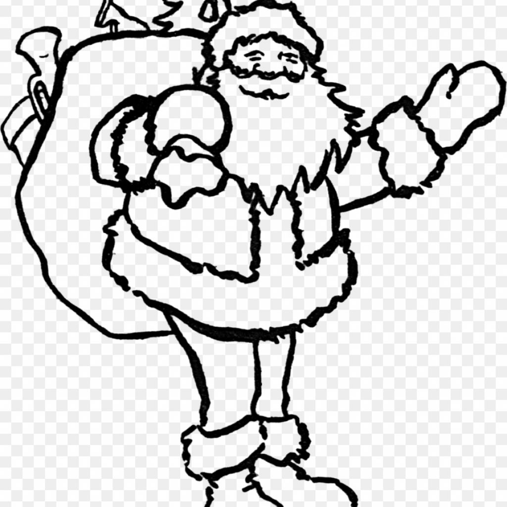 Santa Coloring Clip Art With Claus Christmas Book Place Mats Saint