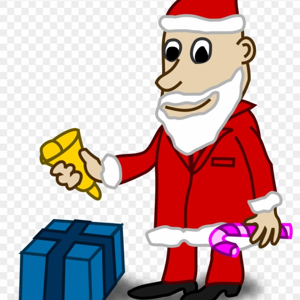 santa-coloring-clipart-with-comic-characters-book-colouring-black