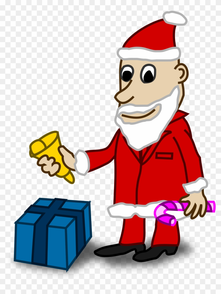 Santa Coloring Clipart With Comic Characters Book Colouring Black