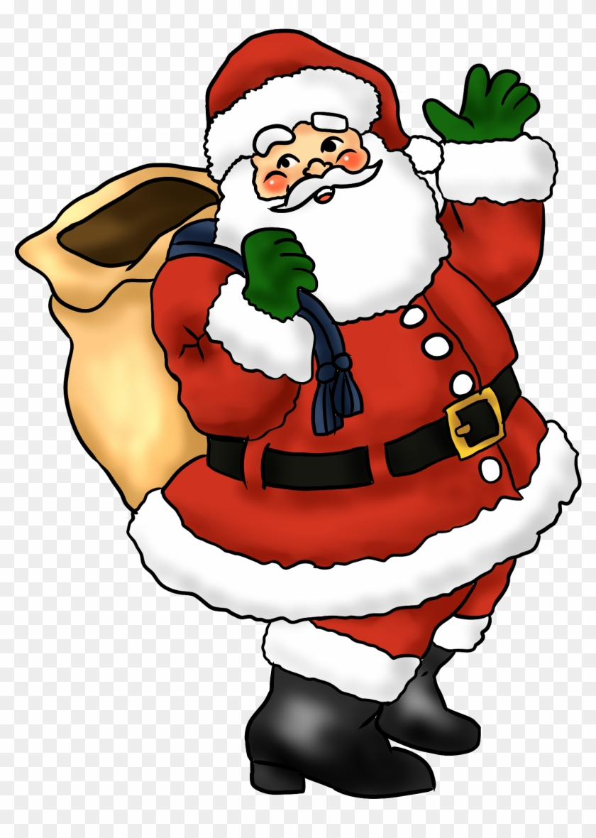 Santa Coloring Clipart With Free Lovely Claus Clip Art Whimsical Christmas Easy