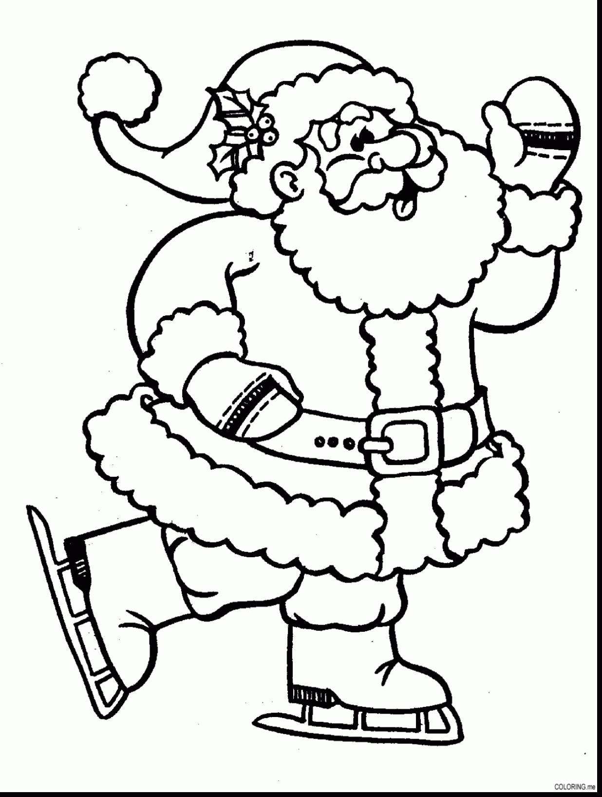Santa Coloring Hat With Christmas Pages New Page Fresh Santaing