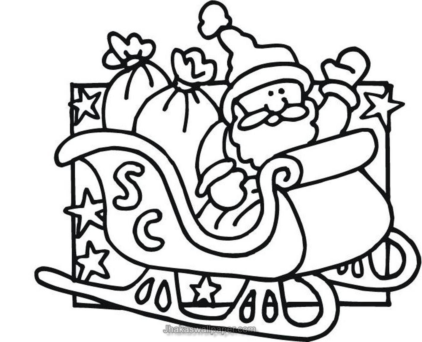 Santa Coloring In With Claus Pages Www Org