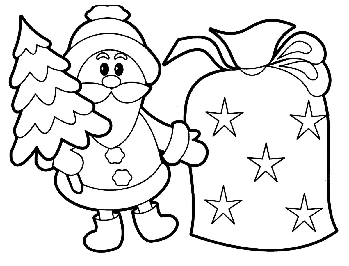 Santa Coloring Kindergarten With Free Printable Claus Pages For Kids