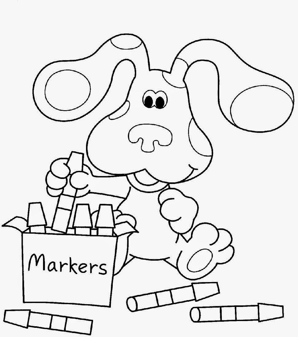 Santa Coloring Pages Crayola With Nice Blues Clues Free Mcoloring